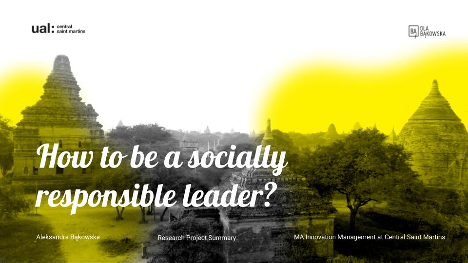 How to be a Socially Responsible Leader_